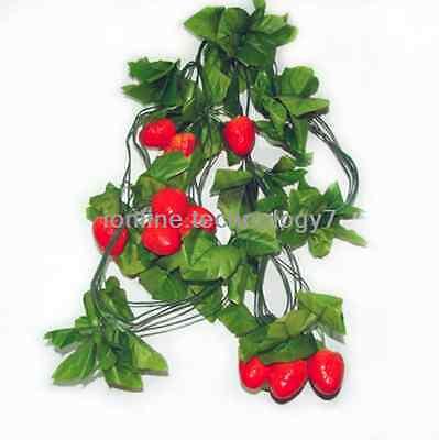41FEET ARTIFICIAL STRAWBERRY GARLAND FAKE PLANT IVY FAUX FRUIT VINE LEAF WEDDING