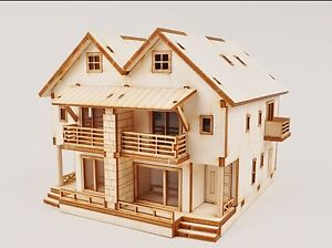 Duplex Home Wooden Model Kit Ebay