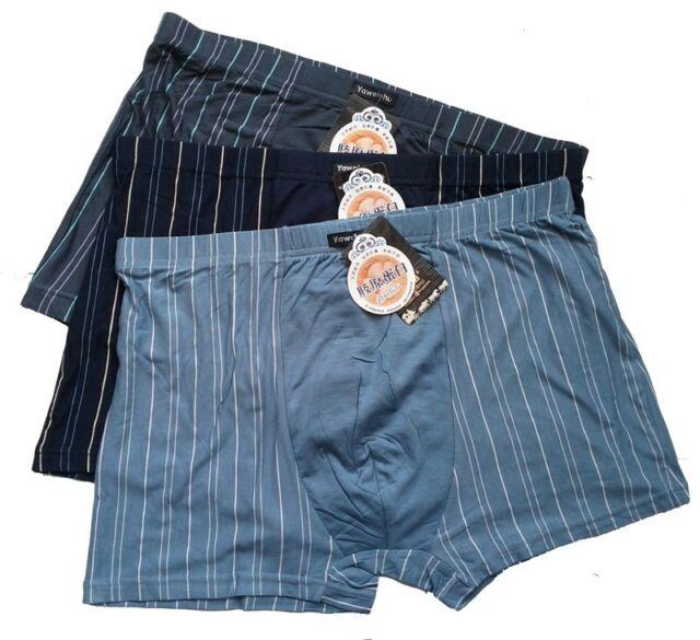 "NWT 3pcs Men's Soft Bamboo Fiber Comfortable Underwear Boxers 2XL 33""-45"" 3Color"