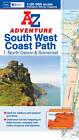 SW Coast Path North Devon Adventure Atlas by Geographers' A-Z Map Company (Paperback, 2012)