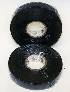 """2 ROLLS TAPESOUTH ELECTRICAL BLACK RUBBER INSULATING TAPE 3/4"""" 30' L .0270"""" TH"""