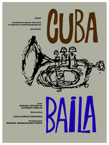 5040 Music Movie POSTER. Cuba Baila. Interior design.Decorative Art.Jazz Musical