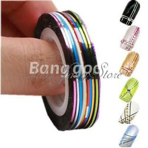 30X-Mix-Colors-Striping-Tape-Line-Nail-Art-Tips-Design-Decoration-Sticker-Decals