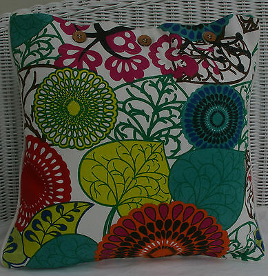 """SCATTER CUSHION COVER 40 X 40 """"AFRICA' MULTI COLOURED, COUCH ,DAYBED, THROW."""