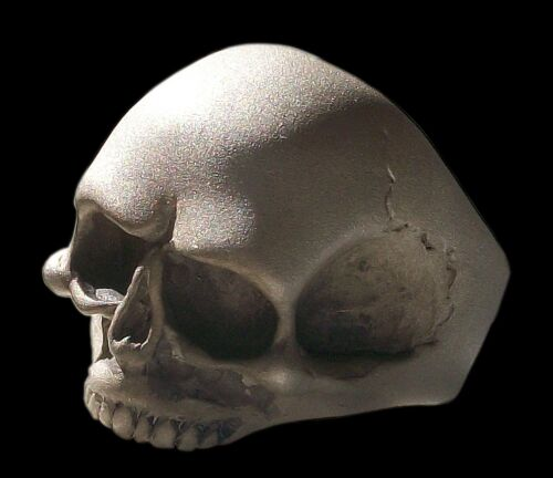 All Sizes Sterling Silver Keith Richards Skull Ring Matte Finish