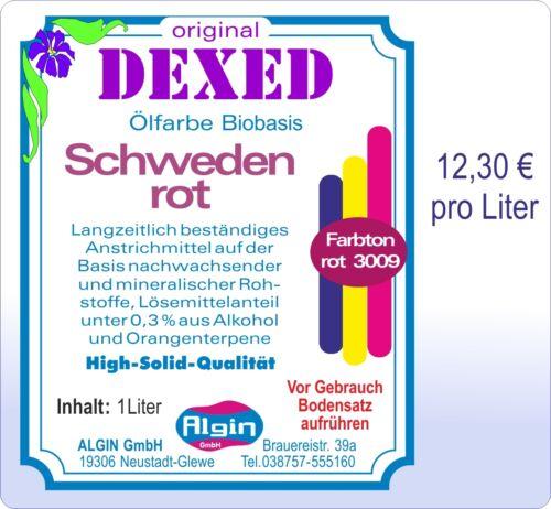 Firnis Schwedenrot  5 Liter PE-Eimer Leinölfirnis Ölfarbe 12,30 € pro Liter