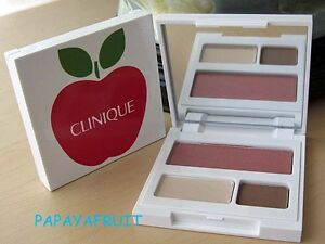 Red-Apple-Clinique-Makeup-Palette-Eyeshadow-Duo-Blush-BUTTER-PECAN-amp-SUNSET-GLOW