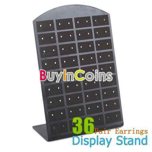 New 36 Pair Organizer Earrings Display Stand Jewelry Holder