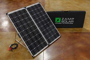 Zamp-Solar-200-Watt-Monocrystalline-Portable-Panel-w-Charge-Controller-ZS-200-P