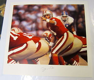 JOE-MONTANA-AUT0GRAPHED-LIMITED-EDITION-MVP-LITHOGRAPH-BY-DANIEL-M-SMITH