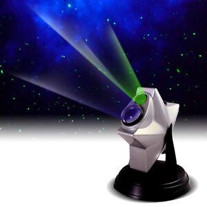 Sharper-Image-Laser-Stars-Projector-Light-Show-Night-Sky-Blue-LED-Nebula-Cloud