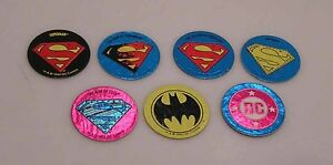 1993-Superman-Batman-POG-Chase-Trading-Card-Set-of-7