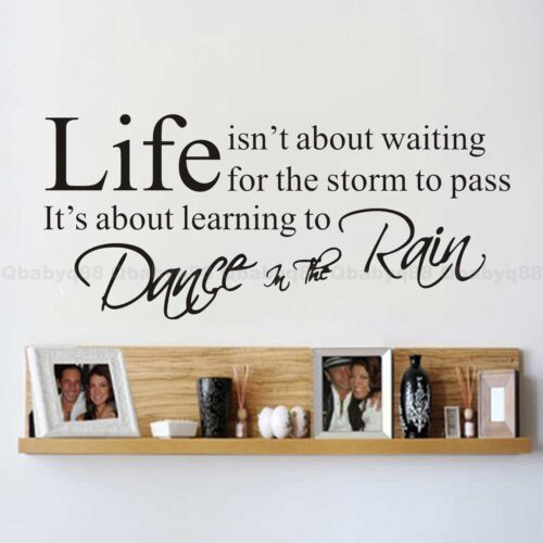 Wall Quotes decals Removable stickers decors Vinyl DIY art-Life(small)