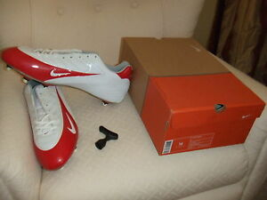 NIB-Mens-Nike-308381-111-Super-Speed-D-Low-Football-Soccer-Cleat-Shoes-Wht-Red