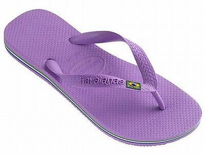 Havaianas Brasil Flip Flops Toe Post Sandals Beach Pool Shoes Light lilac