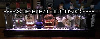 """COLOR LED  36"""" LONG SHOT GLASS * LIQUOR BOTTLE * GLASSWARE DISPLAY SHELF  REMOTE"""