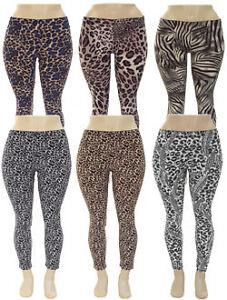 Plus Size Animal Print Legging - Brown Plus Size Animal Print ...