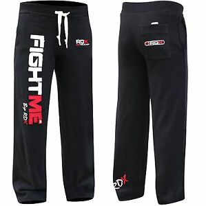 RDX-Fight-ME-Fleece-Pants-Trousers-UFC-MMA-Gym-Bottoms-Jogging-Joggers-Shorts-K1