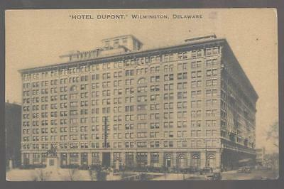 Postcard WILMINGTON Delaware/DE Hotel Dupont Building 1920's