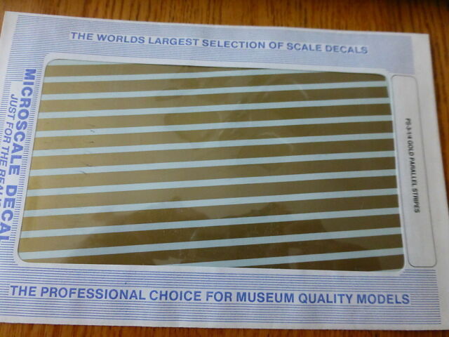 """Microscale Decal #PS-3-1/4 (Gold 1/4"""" Parallel Stripes)"""