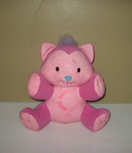 2005 Spin Master Aqua Doodle Pink Sitting Stuffed Plush Kitty Cat