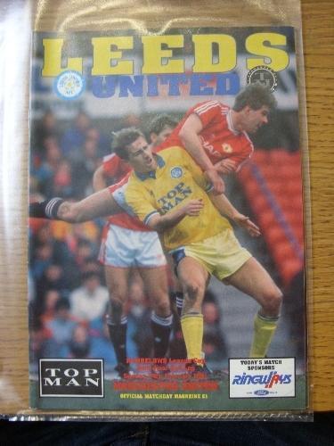 Leeds United v Manchester United I 24//02//1991 Football League Cup Semi-Final