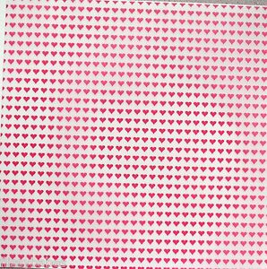 "2 x 12"" x 12"" Red Heart Patterned Vellum NEW"
