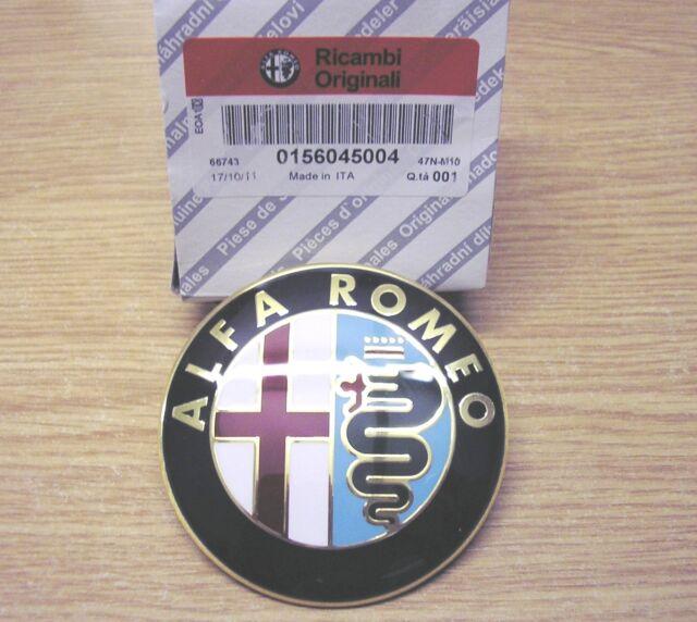 100% GENUINE Alfa Romeo 156 Front Grille Bonnet Badge FACELIFT 156045004 2003 on