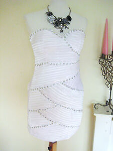 LADIES-SWEETHEART-EMBELLISHED-PARTY-DRESS-EVENING-VINTAGE-SATIN-BRIDAL-COCKTAIL