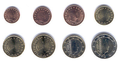 Luxembourg 2004 - Set of 8 Euro Coins (UNC)