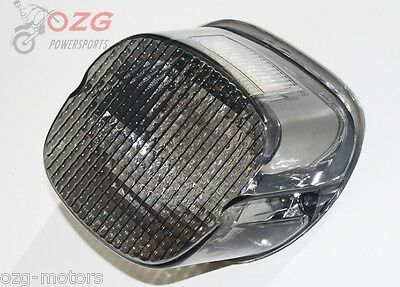 Smoke lens tail brake LED light Harley Davidson motorcycle stop lamp XL FLH FX