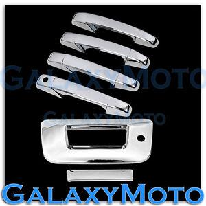 07-13-Chevy-Silverado-Chrome-4-Door-Handle-Tailgate-W-Keyhole-no-Camera-Cover