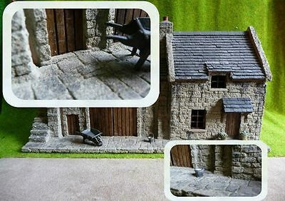 "*** NEW 3sq"" SQUARED RANDOM GREY FLAGSTONES 1:48th SCALE / BRITISH O GAUGE ***"