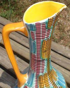 -ceramic 1950's Striped Design 35 Cm Pour ExpéDition Rapide