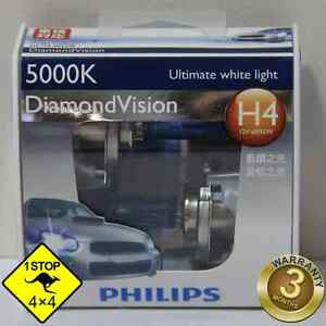 A-Pair-of-Genuine-Philips-H4-12V-5000K-60W-55W-Hi-Lo-Beam-Diamond-Vision-Bulbs