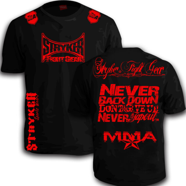 MUAY THAI STRYKER TAP MMA SHORTS SLEEVE T SHIRT TOP UFC KARATE CHECK OUT SIZE T