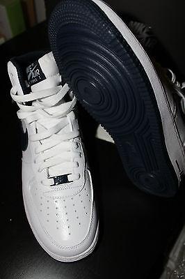 Nike Air Force One 1 HIGH vtg US 8.5 cement mars Navy white 2 DS iv hi supreme