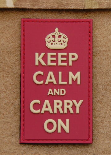 3D PVC KEEP CALM AND CARRY ON Patch Navy SEAL Afghanistan UKSF British Army