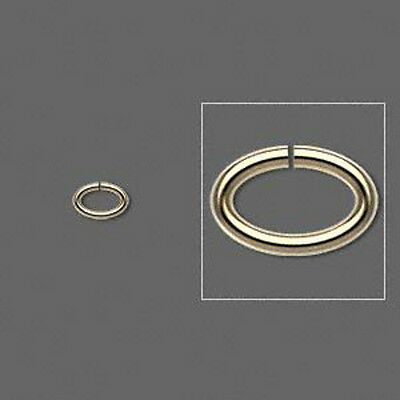 Gold Jump Ring Oval 6x4mm Finding Split Jewelry Lot of 100