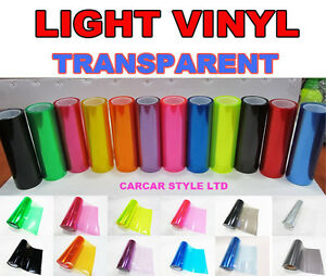LIGHT-VINYL-Tint-Headlight-Taillight-Vehicle-Light-Transparent-ALL-COLOURS