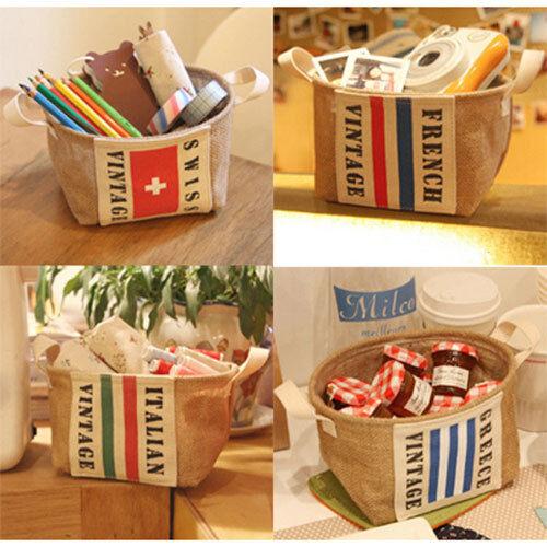 HIMORI AU Interior decoration Basket Italy/France/Swiss_Mini Jute Weave Basket