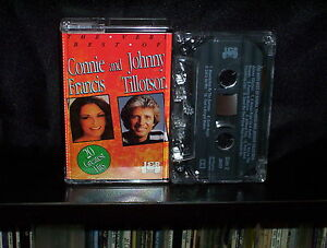 CONNIE-FRANCIS-and-JOHNNY-TILLOTSON-034-VERY-BEST-OF-034-RARE-OZ-CASSETTE-NM