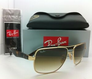 rb3483  New Ray-Ban Sunglasses RB 3483 001/51 60-16 Arista Gold w/ Brown ...