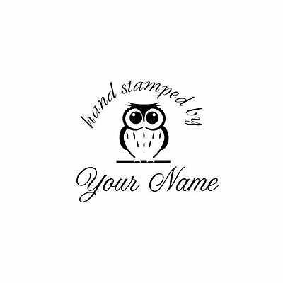 UNMOUNTED PERSONALIZED HAND STAMPED BY RUBBER STAMPS H72
