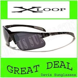 Men-039-s-Designer-X-Loop-Sunglasses-XL46101-UV400-Davis-D4-cycling-running-shades