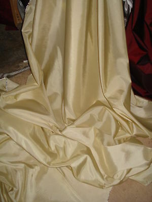 5m IVORY  CREAM  TAFFETA FABRIC 58""