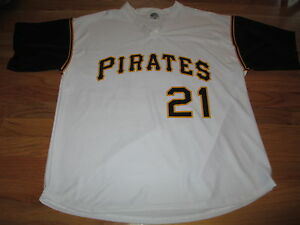 Pro Sport Label ROBERTO CLEMENTE No. 21 PITTSBURGH PIRATES (XL) Jersey