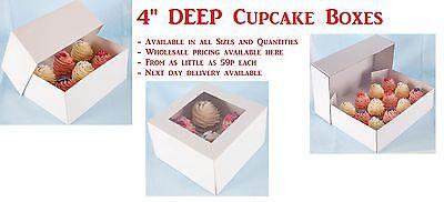 10cm Deep Fairy Cakes Boxes . Any Colour Size & Quantity