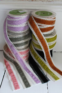 Velvet-and-Lace-May-Arts-Ribbon-38mm-wide-vintage-colours-Price-per-meter