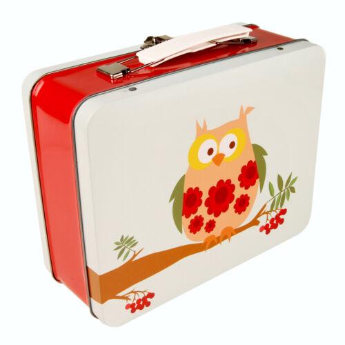 BLAFRE Edelstahl, Vesperdose, Brotdose, Dose, Box, Lunchbox Vintage Eule
